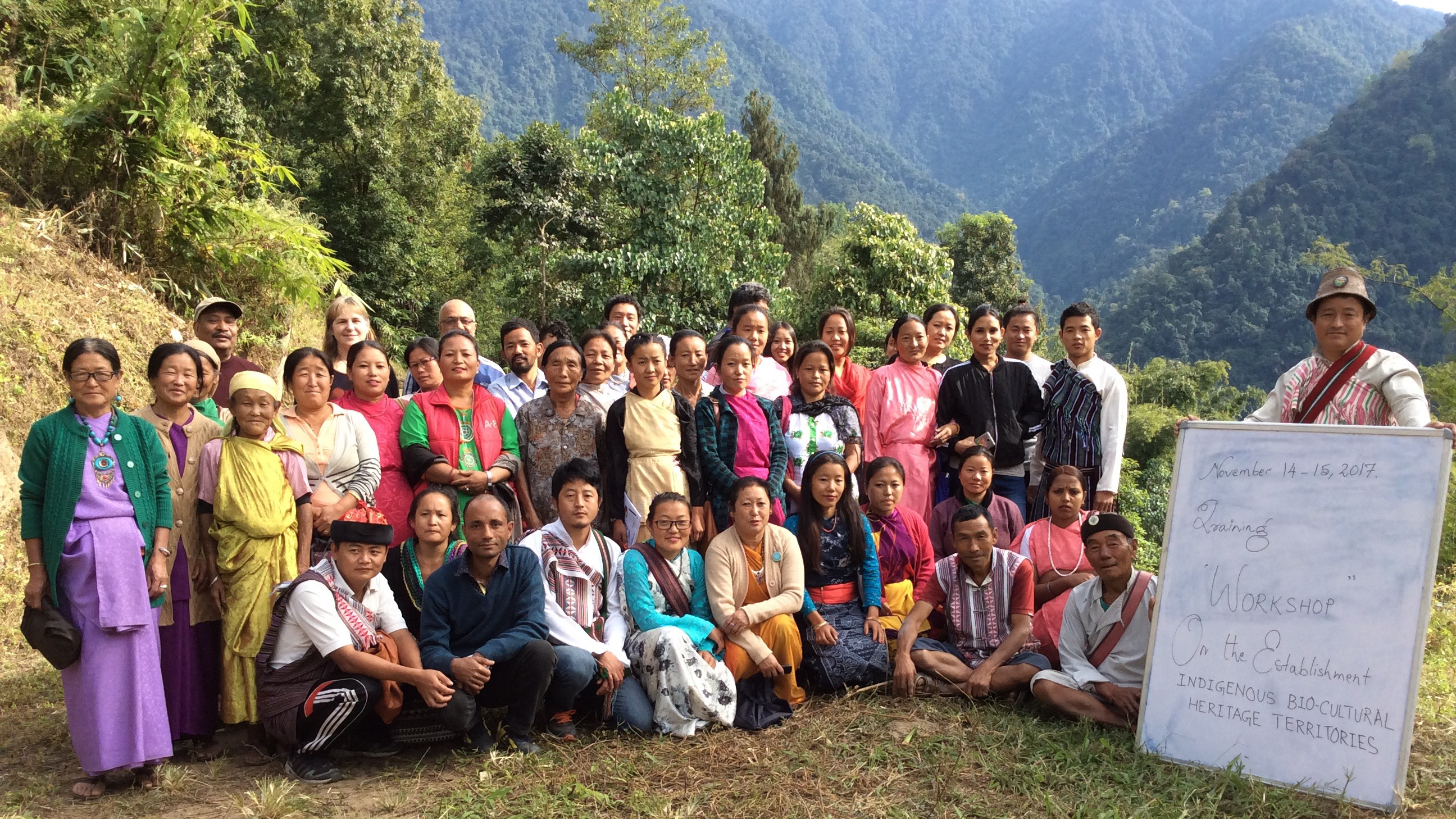 The workshop brought together indigenous mountain people to discuss how to protect their environment and way of life